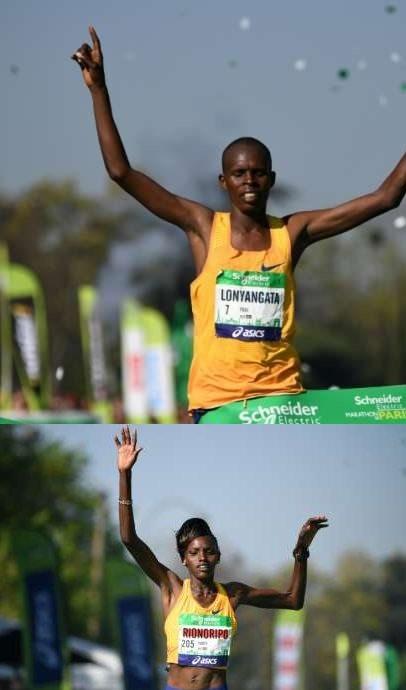 A Parigi moglie e marito vincono la  41^ Maratona