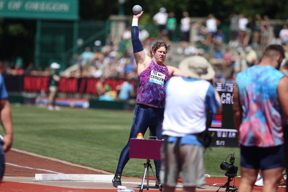 Eugene: Ryan Crouser  sbaraglia la concorrenza nel peso con una super bordata di 22,43