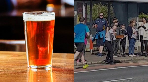Birre gratis ai corridori nel mezzo della Maratona di Belfast