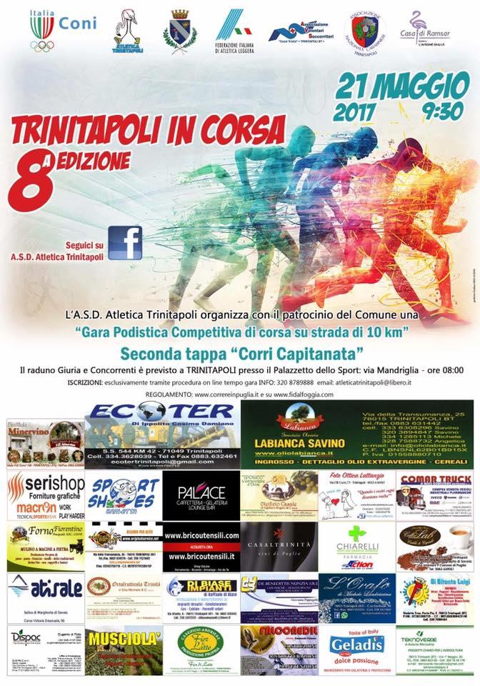 Domenica 21 maggio torna la Trinitapoli in Corsa