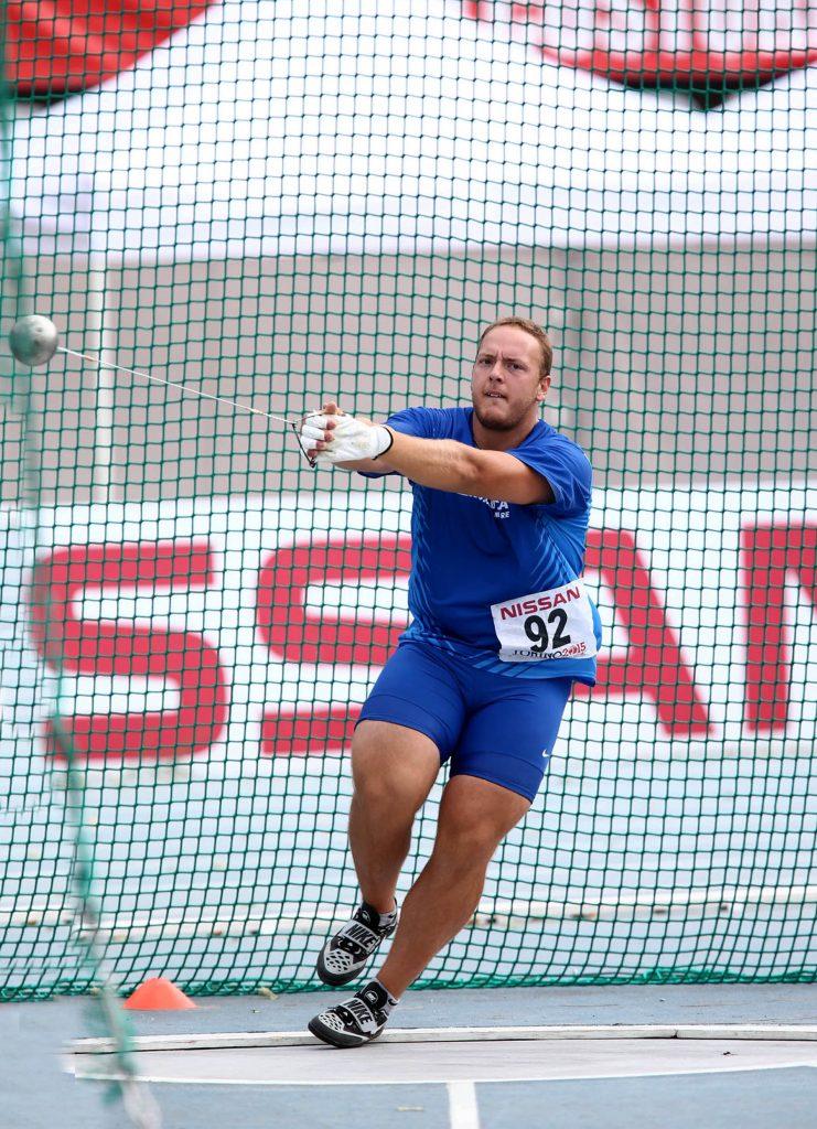 Simone Falloni migliora ancora, 75,73 a Lucca nel martello