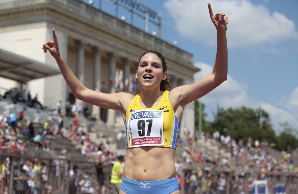 Marta Zenoni torna in gara negli 800 metri a Cinisello Balsamo (Milano)