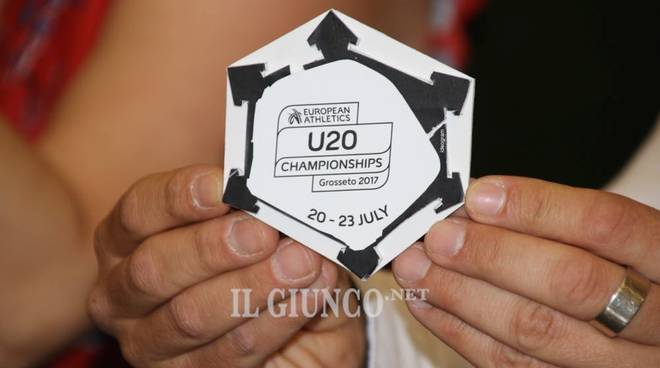 Campionati Europei Under 20 Grosseto, presentata la medaglia ufficiale