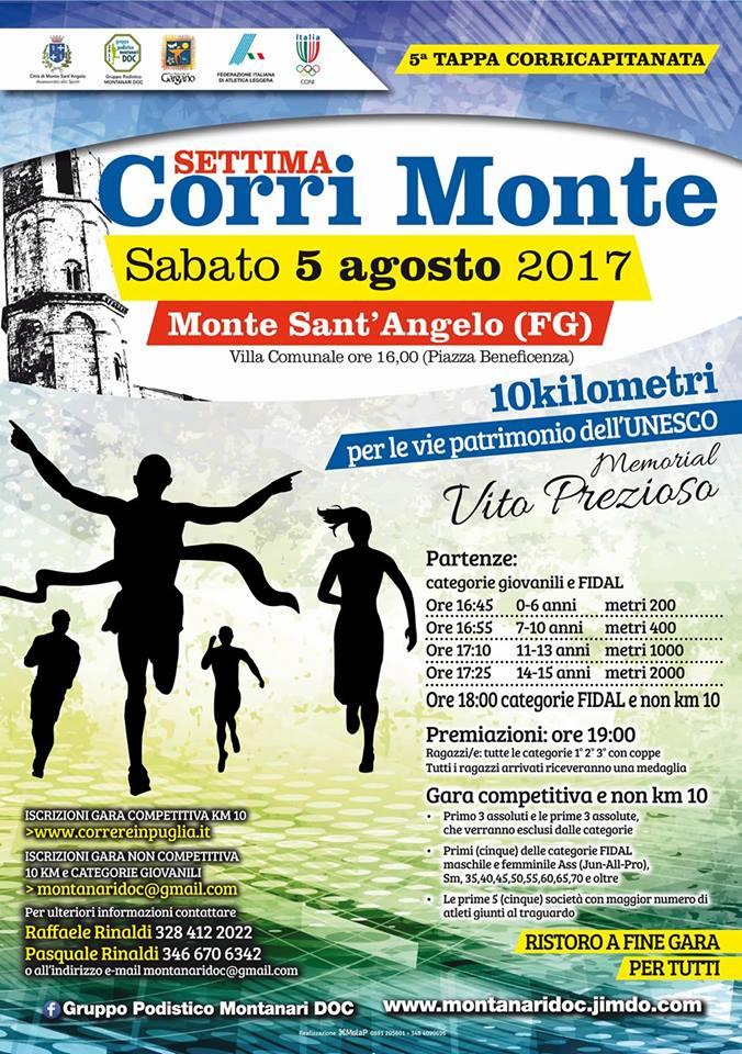 """""""Torna la CorriMonte, 10 km tra arte, storia e fede, ricordando Vito Prezioso"""