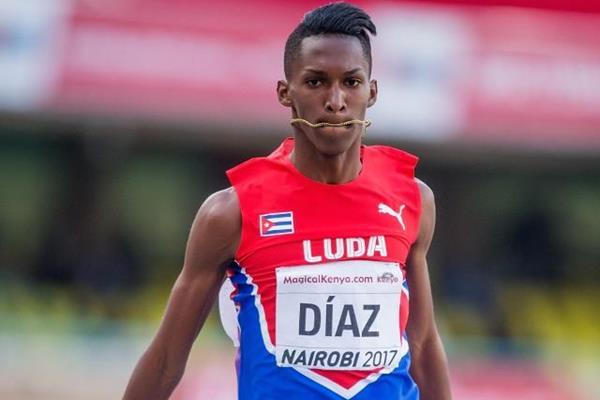 Record del Mondo nel triplo del cubano Diaz ai mondiali U18