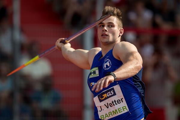 Sorpresa nel giavellotto ai campionati tedeschi, VETTER batte  RÖHLER