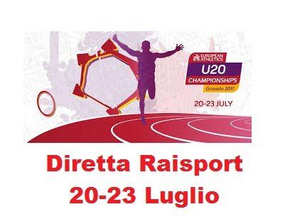 Europei Under 20 Grosseto: gli orari delle dirette Raisport dal 20 al 23 Luglio