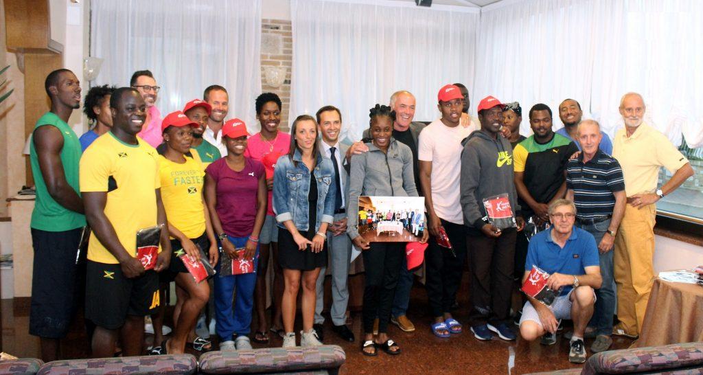 Lignano saluta i campioni giamaicani, che ringraziano per ospitalià e accoglienza