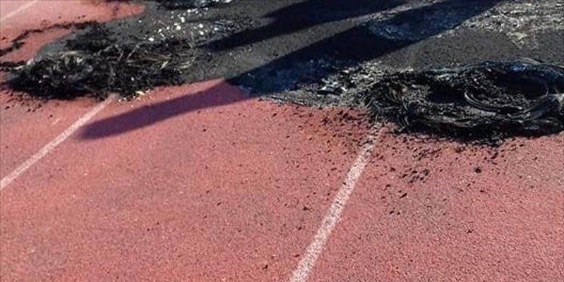 Vandali incendiano la pista di atletica di Acquaviva, la condanna del Coni Puglia