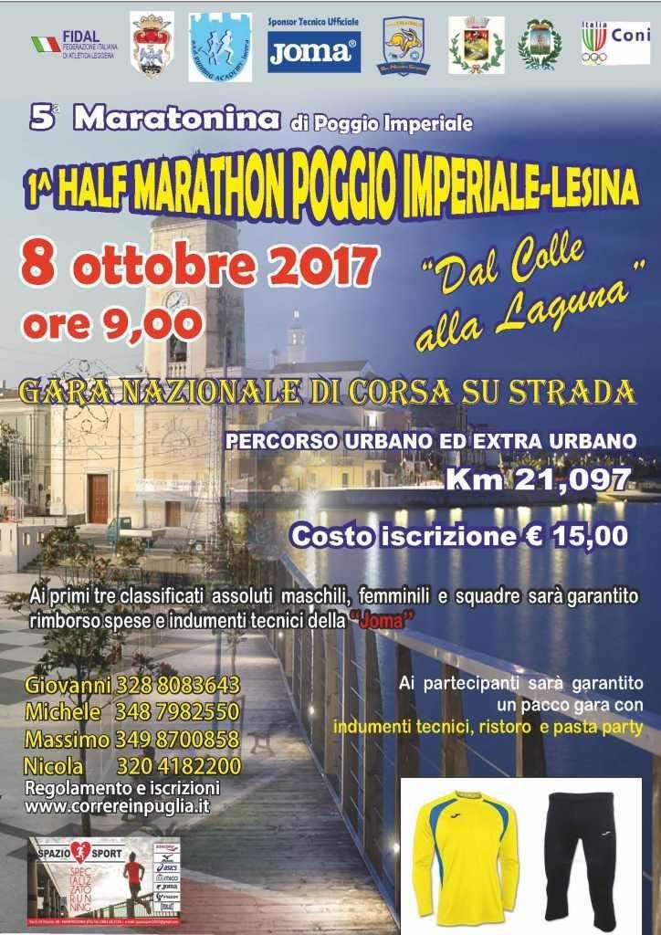 Presentazione alla stampa della gara podistica Nazionale Poggio Imperiale Lesina Half Marathon