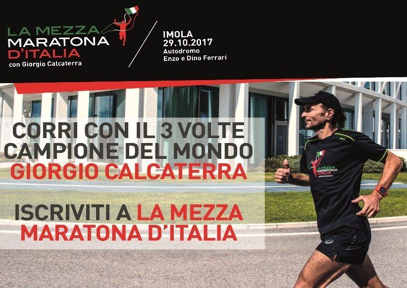 Corri La Mezza Maratona d'Italia con Giorgio Calcaterra all'Autodromo di Imola