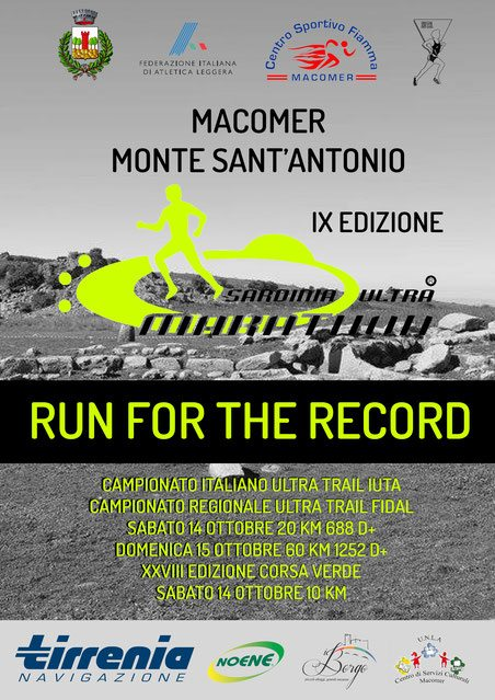 ULTRAMARATONE: Oggi la Sardinia Ultramarathon aMacomer(Nuoro)