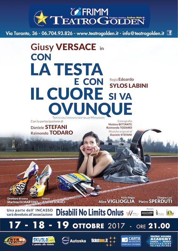 Giusy Versace torna in scena al teatro Golden di Roma