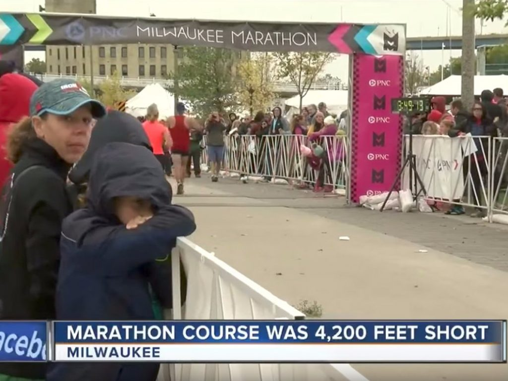 Sbagliano la misurazione della Maratona per il secondo anno consecutivo, è successo a Milwaukee(USA)