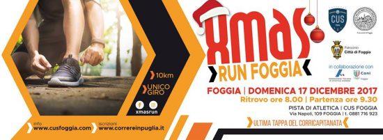 Christmas Run Foggia, il 17 dicembre si corre a Foggia