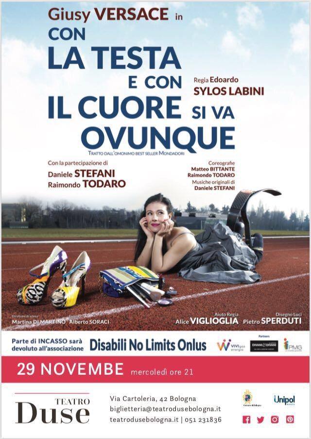 Giusy Versace in scena al teatro Duse di Bologna