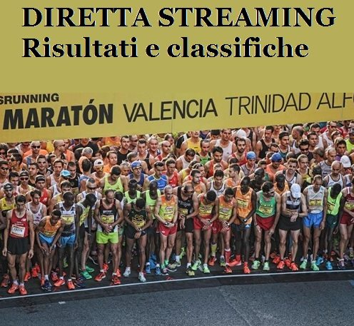 Oggi la diretta streaming della Maratona di Valencia