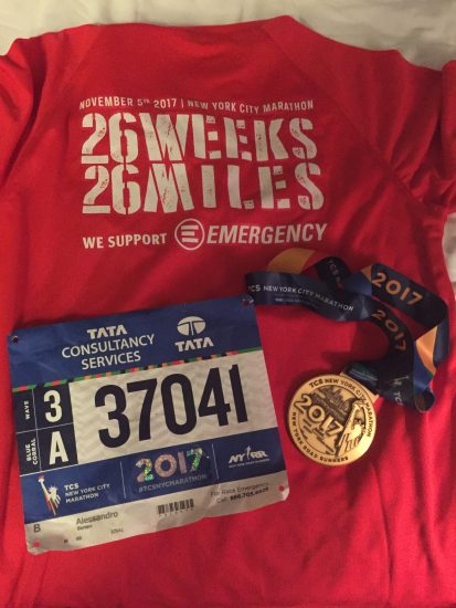 """26 Weeks for 26 Miles"" EMERGENCY racconta la Maratona di New York"