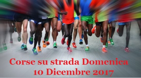 corsa su strada 10 dicembre