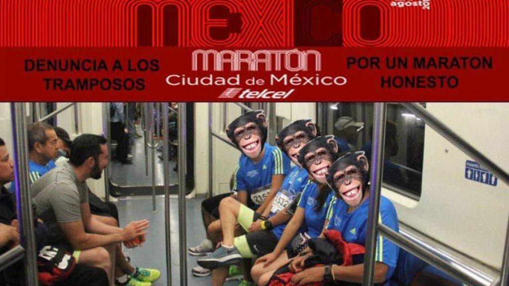 Centinaia di runners scoperti a prendere una scorciatoia durante la Maratona di Città del Messico