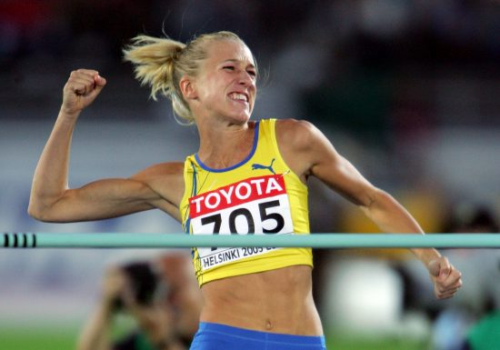 competes during the xxxx at the 10th IAAF World Athletics Championships on August 8, 2005 in Helsinki, Finland