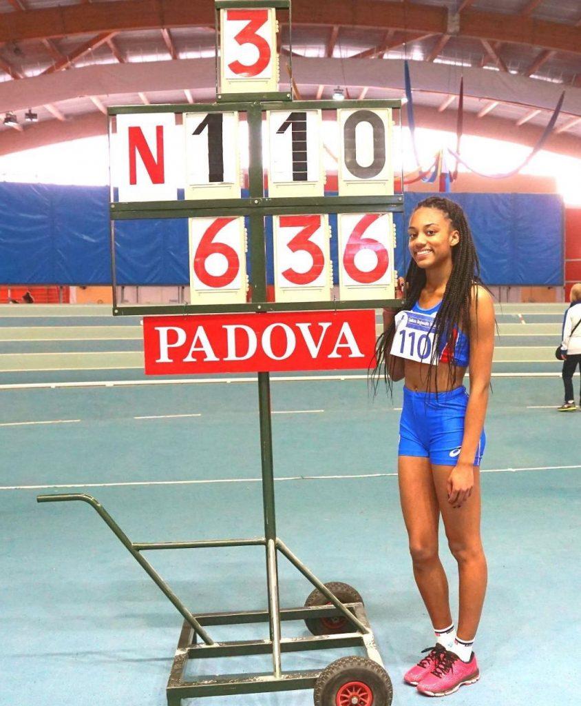 Larissa Iapichino vola nel lungo a Padova: Record italiano U18, battuta mamma Fiona May
