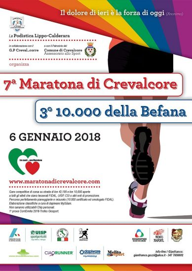 Risultati Maratona di Crevalcore (BO): Marco Ferrari e Daniela De Stefano davanti a tutti