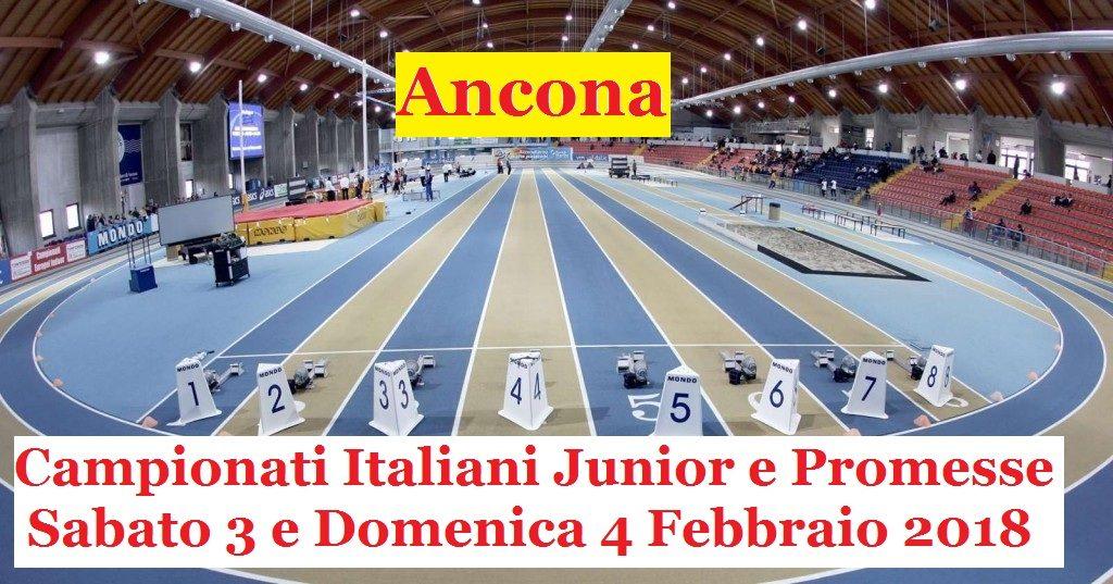 Campionati Italiani Indoor Junior e U23: iscritti, orario e diretta streaming