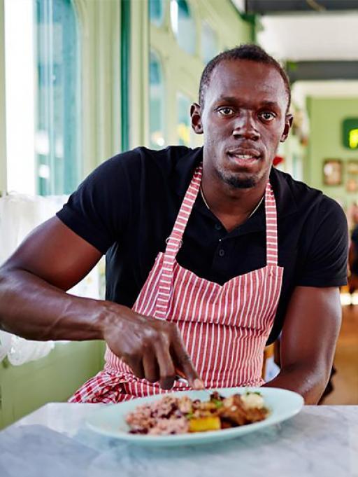 Usain Bolt presenta le sue salse piccanti!