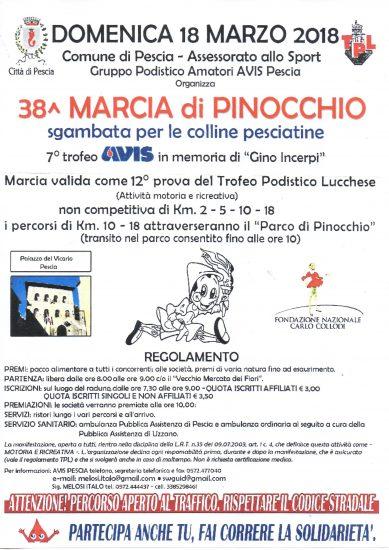 MARCIA DI PINOCCHIO 18-03-2018