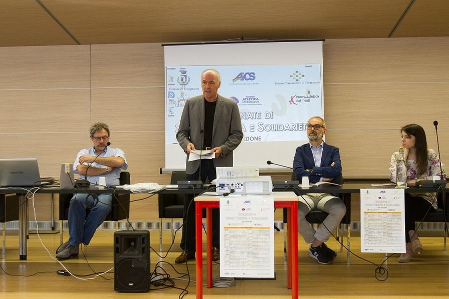 """Presentato il ricco programma della 22^ edizione  delle """"Giornate di Sport Cultura e Solidarietà"""" a Tavagnacco"""