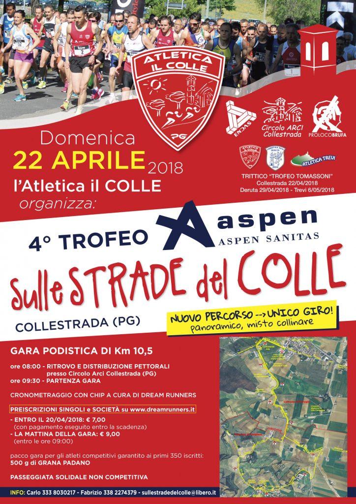 Il 22 aprile a Perugia il 4° Trofeo Aspen