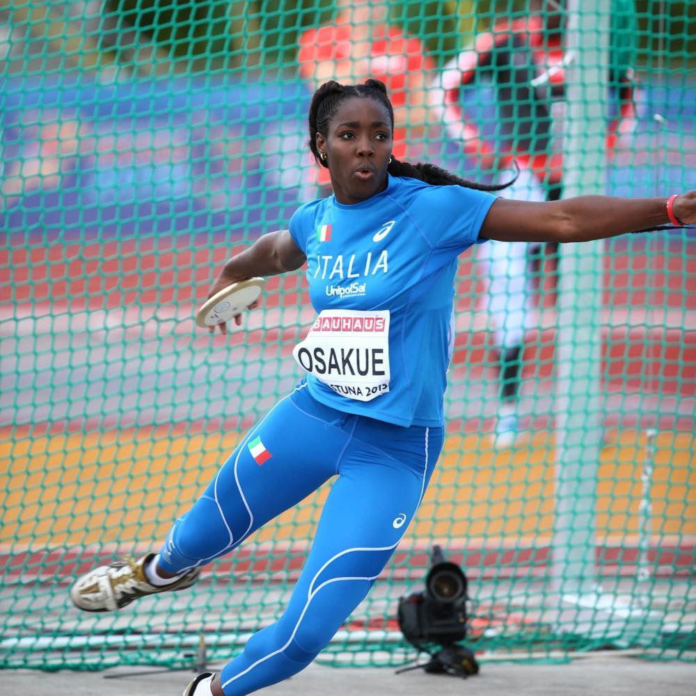 Daisy Osakue  polverizza il record italiano U23 nel disco
