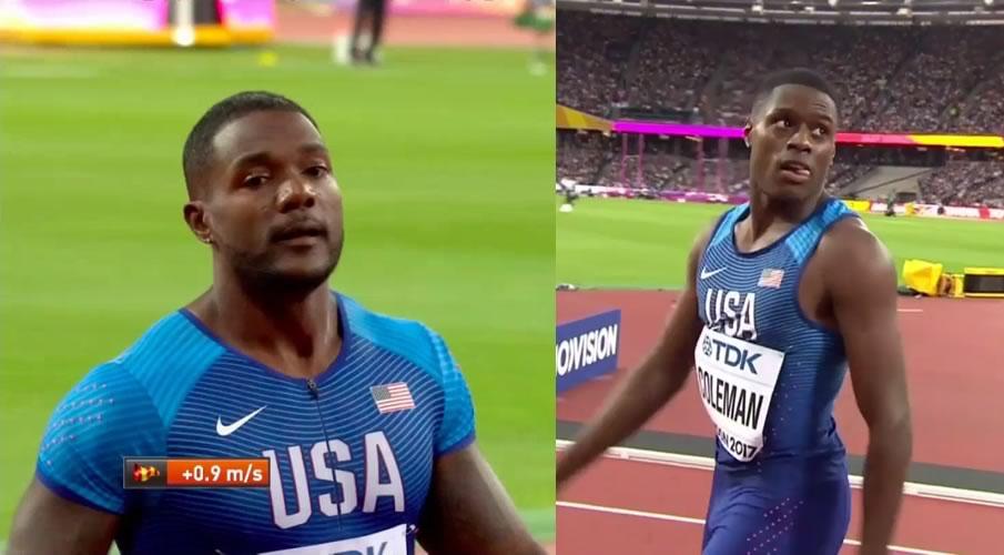 Jusstin Gatlin e Christian Coleman guidano la staffetta 4x100 al miglior crono mondiale