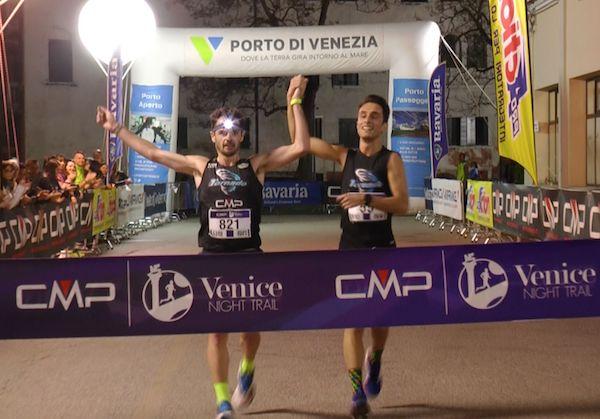 """Diego Avon e Simone Gobbo vincono """"a braccetto"""" il CMP Venice Night Trail"""