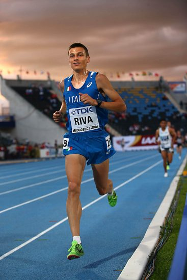 Pietro Riva arriva al PB nei 5000 m. a Oordegem