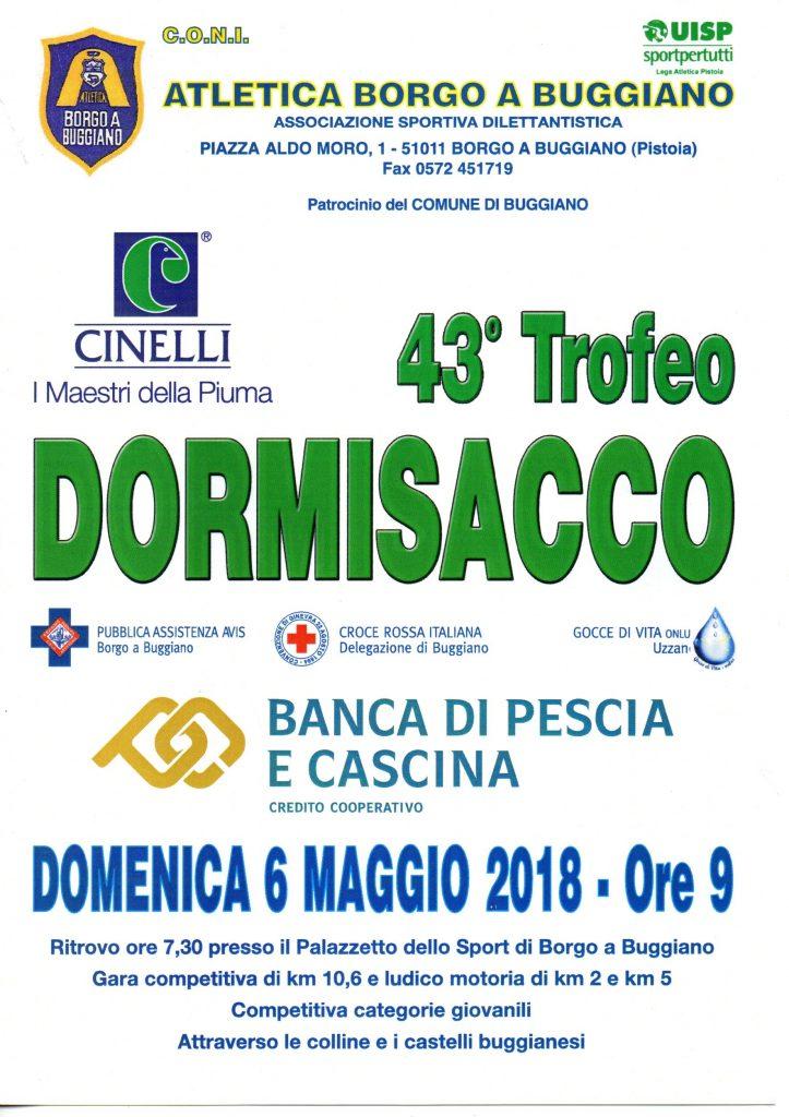 Domenica si corre il Trofeo Dormisacco a Borgo a Buggiano (Pistoia)