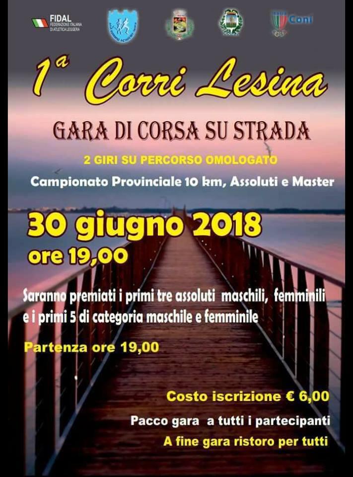 Grande attesa per la 1° CorriLesina, campionato provinciale Master 10 km