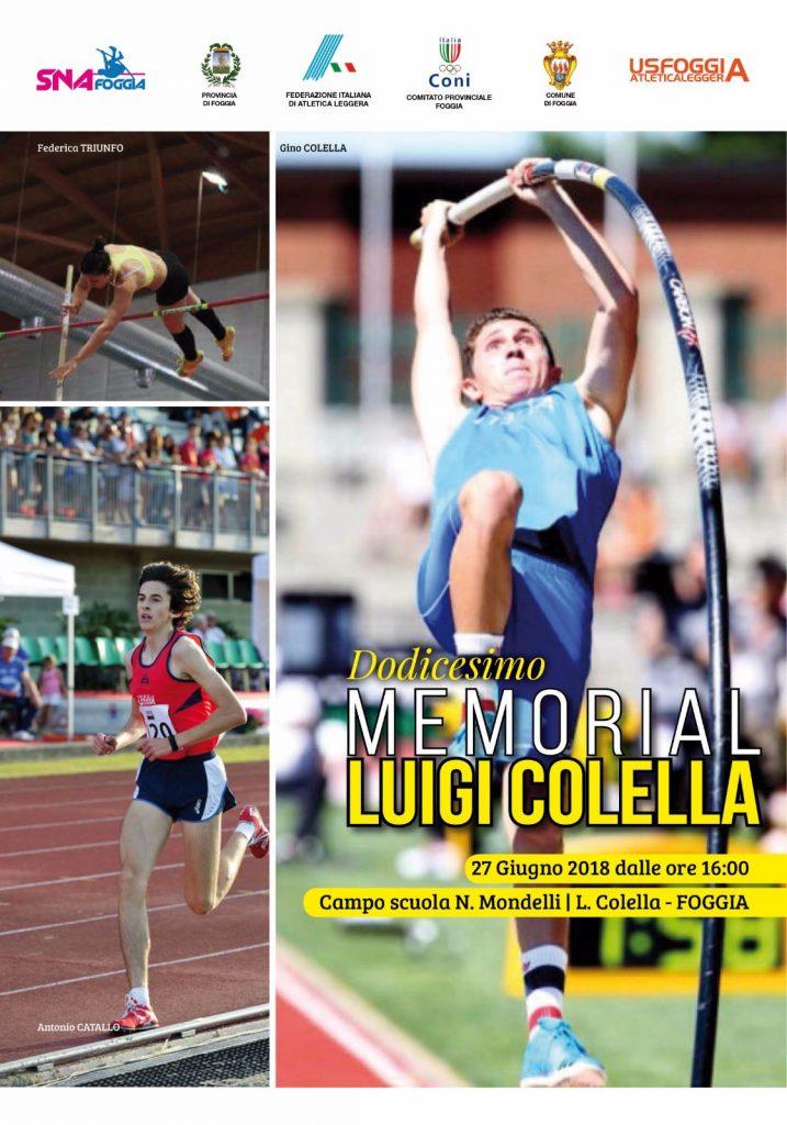 """Mercoledi a Foggia il """"Memorial Colella"""""""