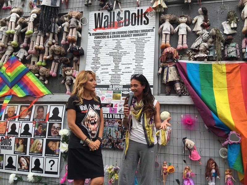 """Giusy Versace domani a """"Wall of Dolls"""" contro il femminicidio"""