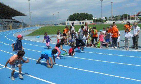 ALLO STADIO CON I CAMPIONI: Staffetta mista con i campioni giamaicani e i giovanissimi di Lignano