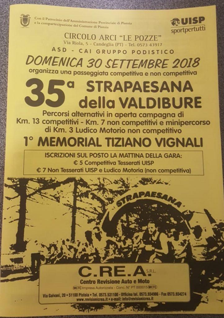 Tutto pronto per la Strapaesana della Valdibure-Memorial Tiziano Vignali.