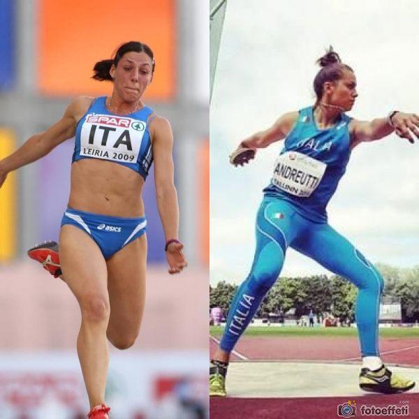Tania Vicenzino e Giada Andreutti in ritiro con gli atleti del Monobob