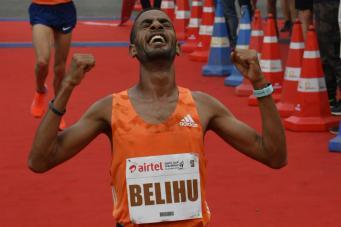 Risultati Delhi Half Marathon: male Dibaba, vince Gemechu col record della corsa