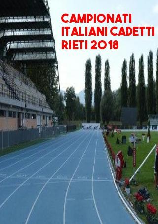 Tricolori cadetti Rieti: Ecco i protagonisti del MEZZOFONDO