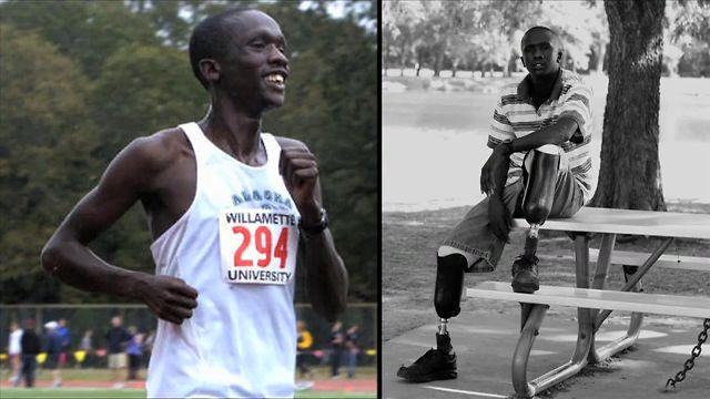 Runner che ha perso i piedi per congelamento, completa la sua prima maratona