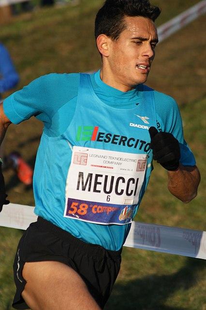 Daniele Meucci  domenica in gara nel cross Valmusone ad Osimo