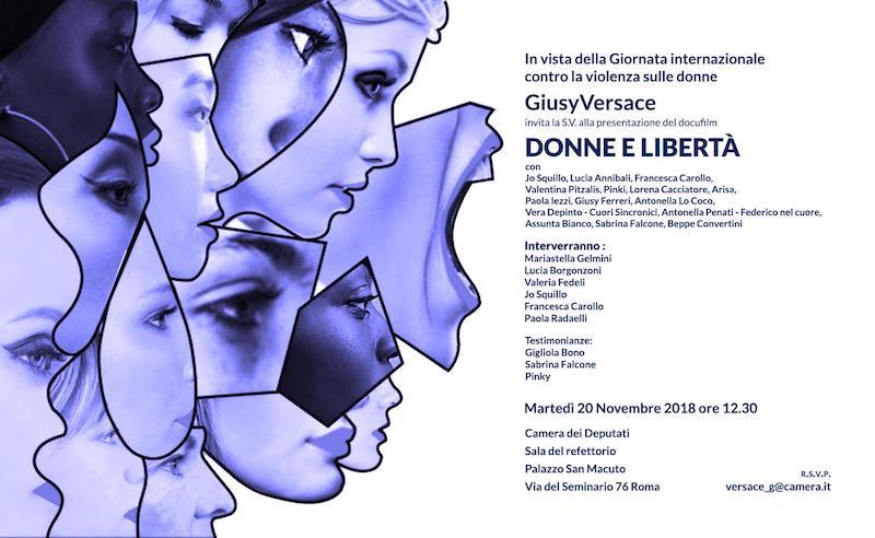 """Giusy Versace organizza domani l'incontro  """"Donne e Liberta"""" alla Camera dei Deputati a Roma"""