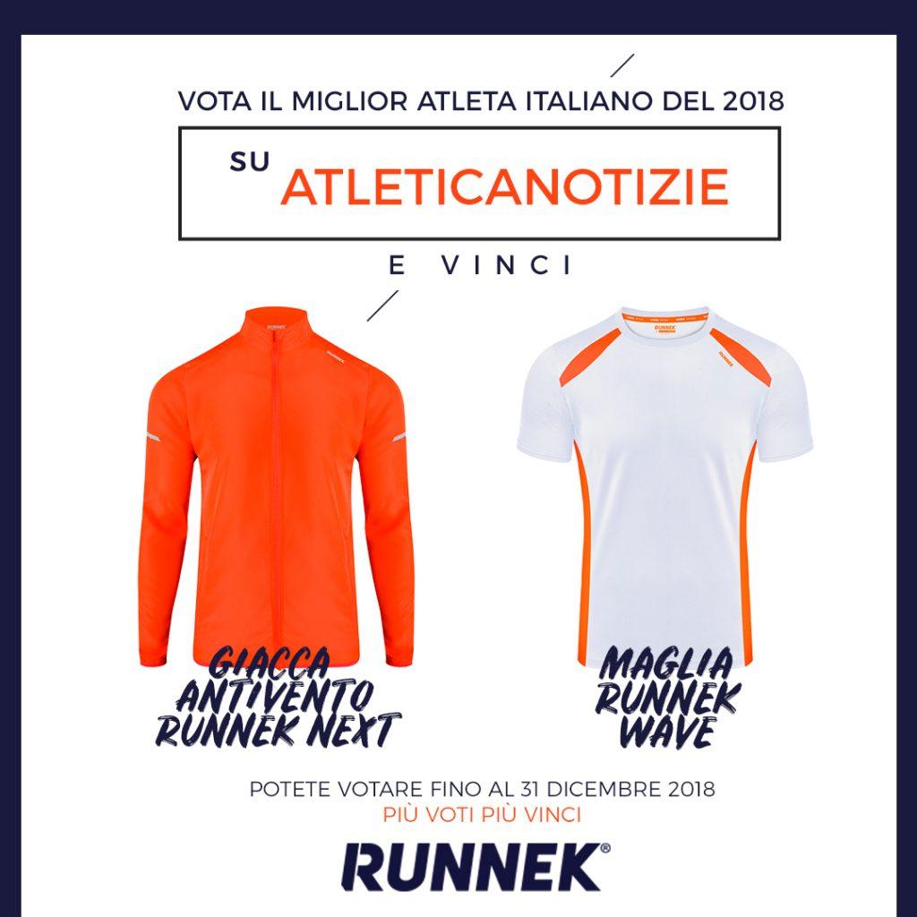 Vota il 'MIGLIOR ATLETA ITALIANO 2018' su atleticanotizie