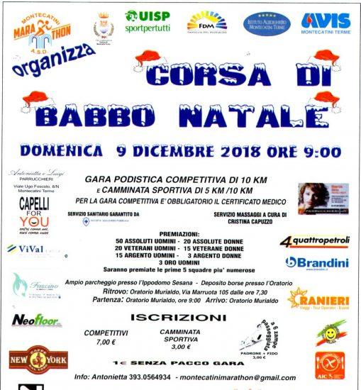 CORSA DI BABBO NATALE-MONTECATINI TERME-9 DICEMBRE 2018